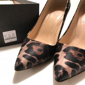 J. Crew Italian Leopard Print Leather Lined Heels